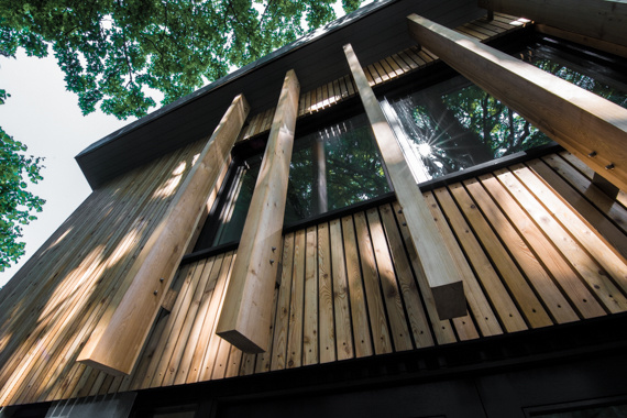 Detail of St Peter's Episcopal Church extension by Grant at Bulloch Architecture