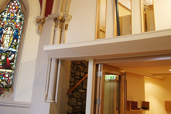Detail of St Peter's Episcopal Church renovation by Grant at Bulloch Architecture